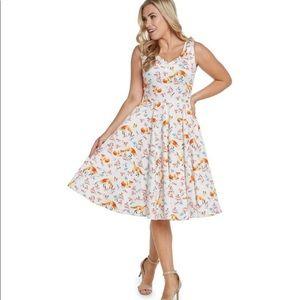 Eva Rose Fox Flo Fit & Flare Dress Sleeveless XL